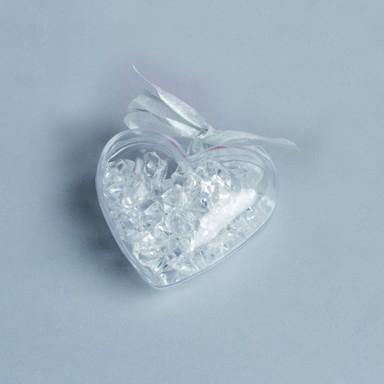 thire bombonire coeur fleurs tulles coeur - Contenant Drages Mariage Pas Cher